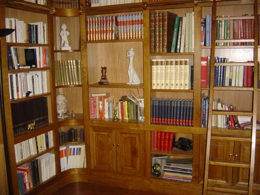 biblioth que pont saint esprit menuiserie mpo cr ation. Black Bedroom Furniture Sets. Home Design Ideas